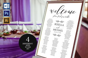 Wedding Seating Chart Sign Wpc249