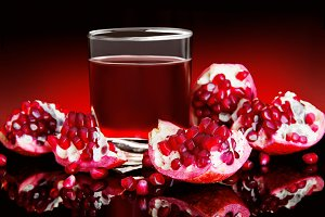 beverage with pomegranate