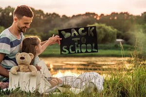 back to school in nature