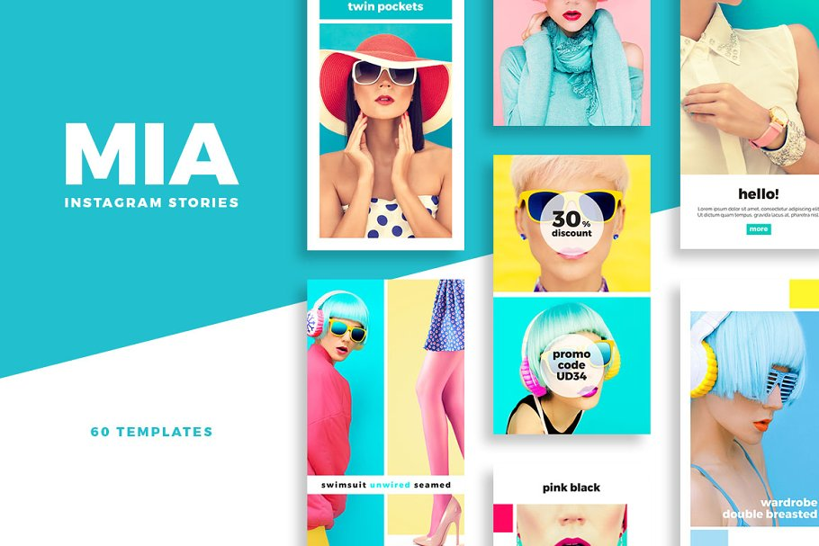 Mia Instagram Stories Pack Instagram Templates Creative Market