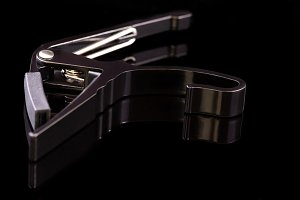 Black spring clamp capo