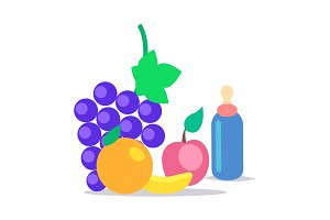 Kids Healthy Ration Flat Vector Concept