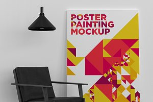 Poster Painting MockUp 010