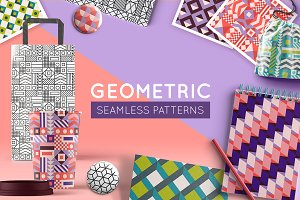 Geometric - seamless patterns