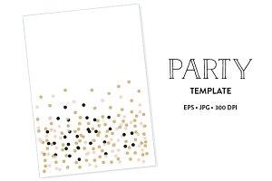 1 Party Tempate EPS & JPG