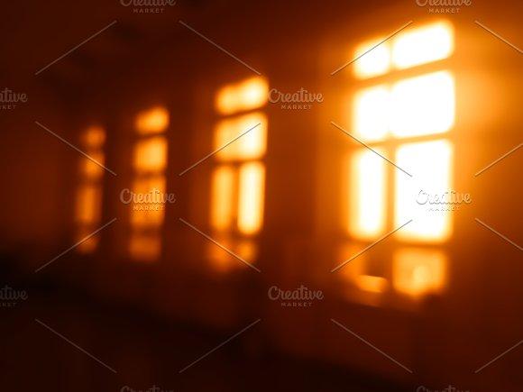 Morning windows light leak bokeh background
