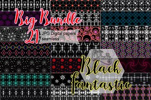 Black Fantastic digital papers