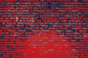 Red hacker code illustration background