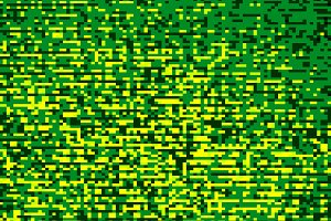 Green pixel mess illustration background