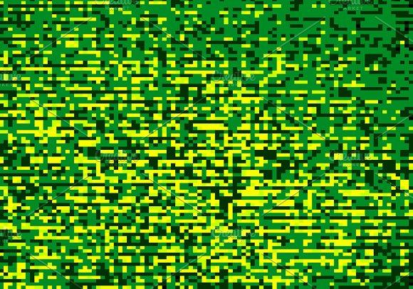 Green Pixel Mess Illustration Background