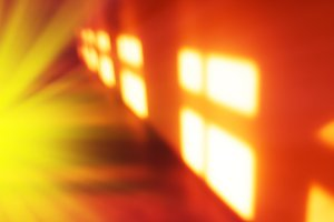 Morning windows light leak bokeh background