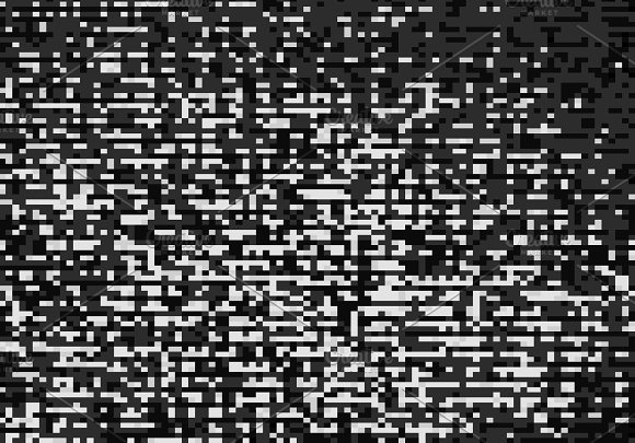 Black And White Pixel Mess Illustration Background