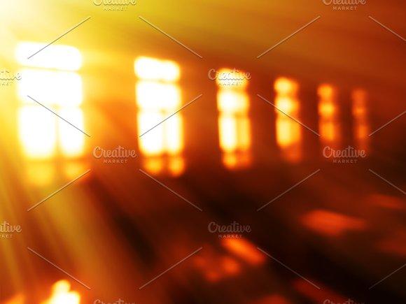 Sunrise Windows Light Leak Bokeh Background