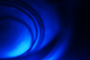 Spherical blue motion blur background