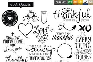 So Thankful: Brushes & Overlays