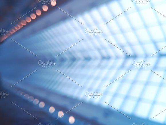 Diagonal Space Shuttle Shaft Track Bokeh Background