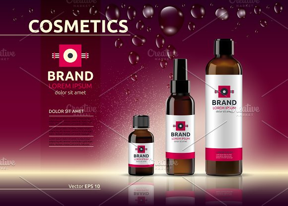 Vector Body Care Cosmetic Mockup