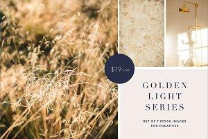 Gold light stock photo bundle