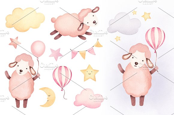 Illustrations Of Cute Sheep