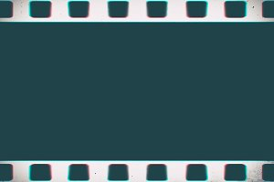 Horizontal empty vintage filmstrip illustration background
