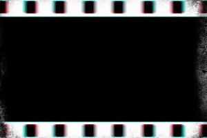 Horizontal blank vintage filmstrip illustration background