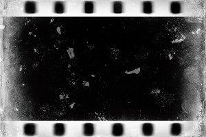 Horizontal black and white dust film scan illustration backgroun