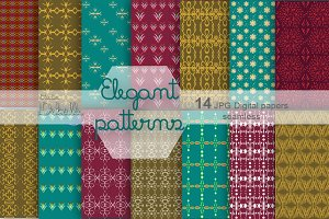 Elegant Patterns digital papers