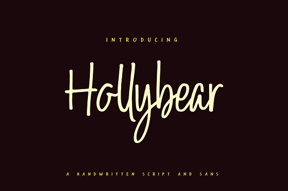 Hollybear 30 off script fonts creative market hollybear 30 off script fandeluxe Image collections