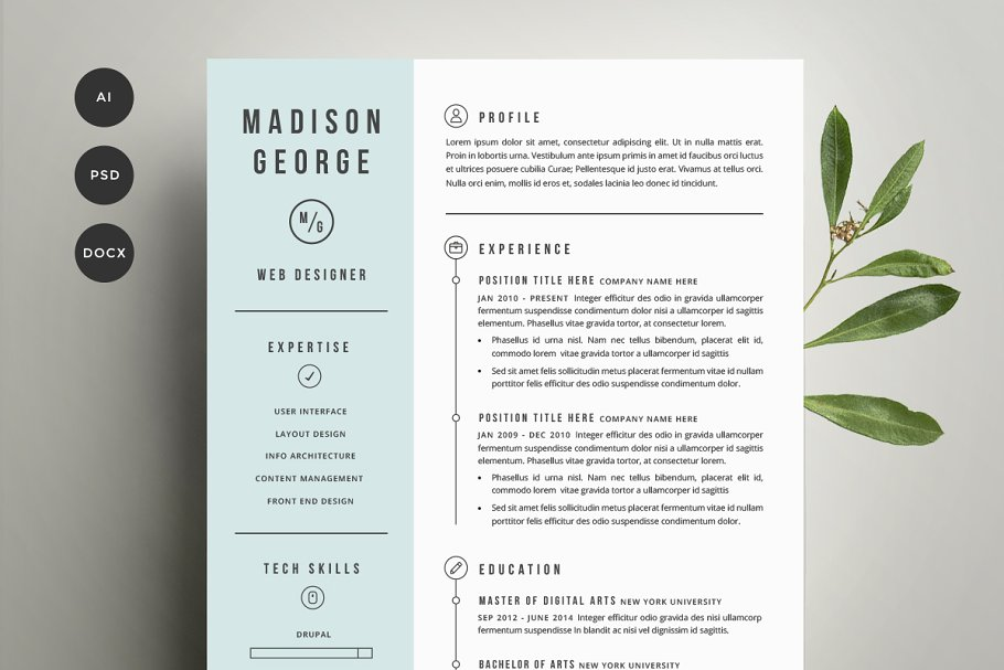 Cover Letter Design Template from images.creativemarket.com