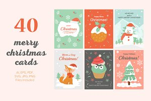 40 Christmas Cards Illustrations