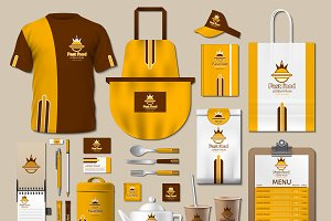 Vector yellow fast food identity