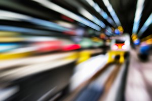 Horizontal vivid abstract motion train station transportation ba