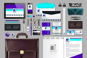 Vector purple business identity