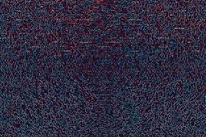 Horizontal red cyan futuristic maze illustration background
