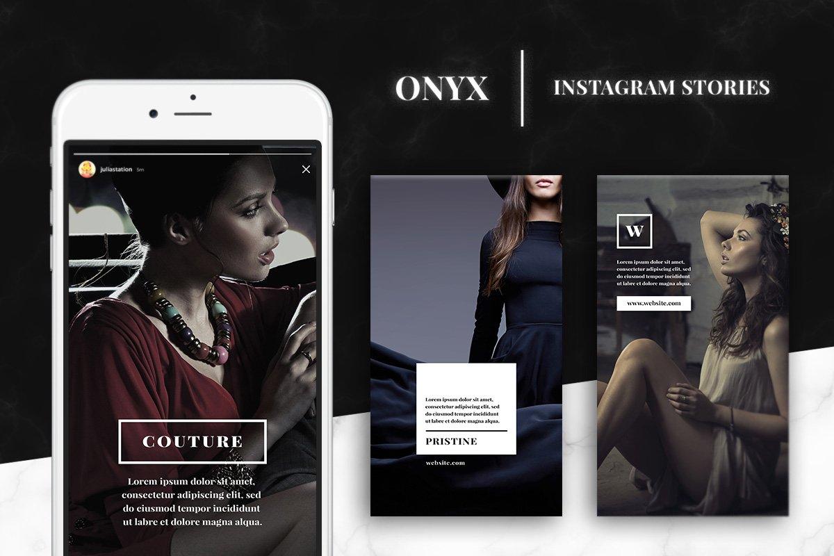 onyx instagram story templates instagram templates creative market. Black Bedroom Furniture Sets. Home Design Ideas