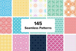 145 Seamless Simple Patterns