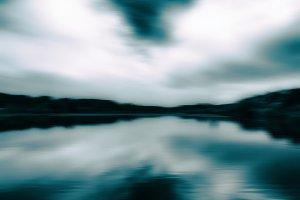 Horizontal aqua sepia landscape motion abstraction background ba