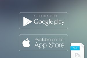Apple App Store and Google Buttons
