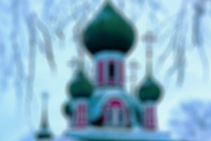Blurred church bokeh background abstraction