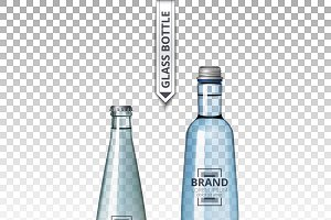 Vector mineral water bottle glass