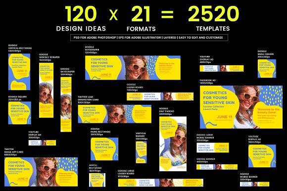 120 in 1 Web Banner Templates Bundle