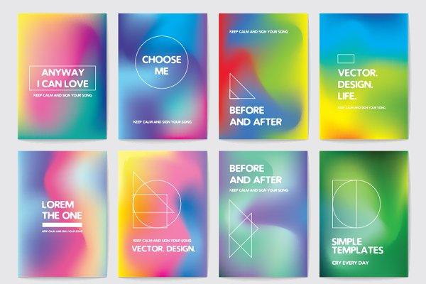 Card templates. Liquid colors.