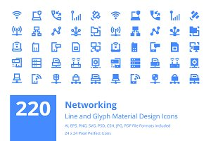 220 Networking Material Design Icons