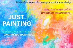 20 Abstract Watercolor Backgrounds
