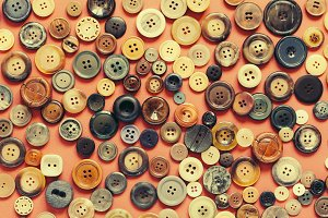 Background with old buttons