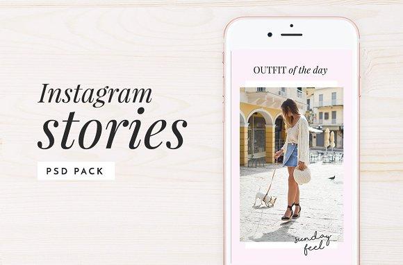 Instagram Stories Photoshop Pack