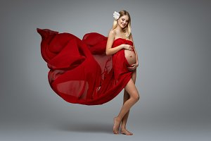 beautiful pregnant woman