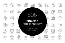 606 Finance Line Icons