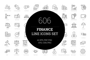 606 Finance Line Icons