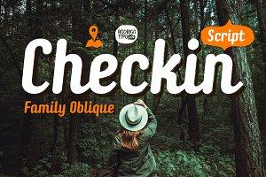 Checkin Script Family Oblique -50